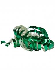 2 Rollos de serpentina verde metálico 4 m