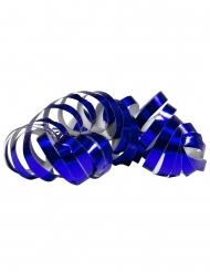 2 Rollos de serpentinas azul metálico 4 m