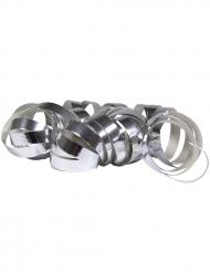 2 Rollos de serpentinas plateadas metálicas 4 m