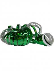 2 Rollos de serpentinas holográficas verdes 4 m