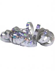 2 Rollos de serpentina holográficas plateados 4 m