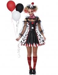 Disfraz payaso psyco vestido mujer