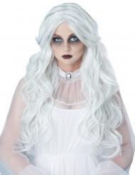 Peluca larga dama blanca mujer