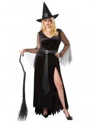 Disfraz bruja chic talla grande mujer