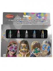 5 Lapiceros crayón de agua efecto perla niño 2,8 g