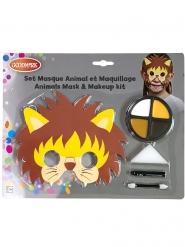 Kit máscara y maquillaje león niño