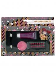 Kit de maquillaje rosa purpurina