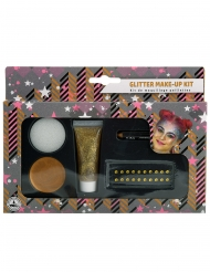 Kit de maquillaje oro purpurina