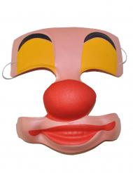 Máscara payaso de plástico adulto