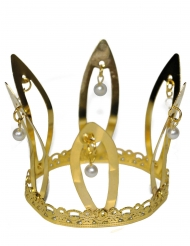 Corona medieval dorada adulto