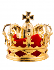 Horquilla de corona real dorada