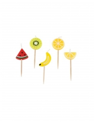 Kit 5 velas con pico frutas aciduladas
