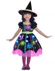 Disfraz bruja multicolor araña niña