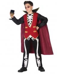 Disfraz vampiro esqueleto niño