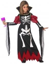 Disfraz vampiro esqueleto niña