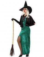 Disfraz bruja del oeste verde mujer