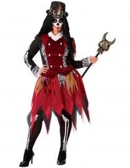 Disfraz bruja vudú mujer talla grande