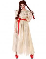Disfraz muñeca vintage maléfica mujer