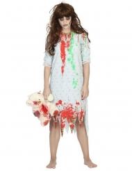 Disfraz zombie camisón mujer