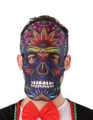 Máscara calavera de colores Día de los muertos