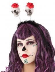 Diadema cráneo Día de los muertos adulto