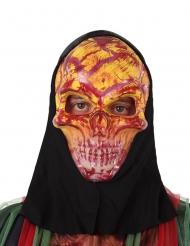 Máscara esqueleto rojo adulto