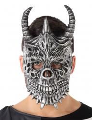 Máscara dragón gris adulto