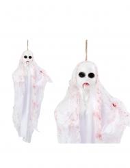 Decoración para colgar fantasma blanco 50 cm