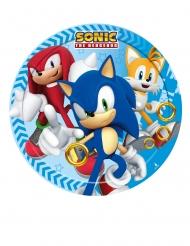 8 Platos pequeños de cartón Sonic™ 18 cm