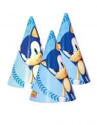 6 Sombreros de fiesta cartón Sonic™