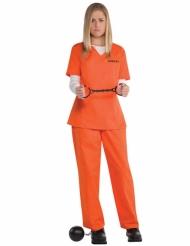Disfraz prisionera naranja mujer