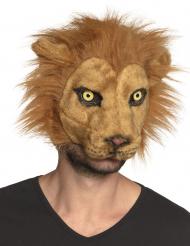 Máscara león peluche adulto