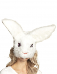 Máscara conejo peluche adulto