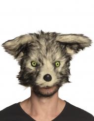 Máscara lobo feroz peluche adulto