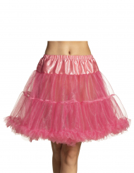 Falda enagua mediana rosa mujer