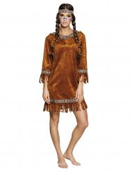 Disfraz india falso ante mujer