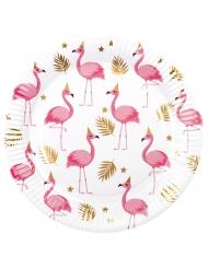 6 Platos de cartón Flamingo tropic 23 cm