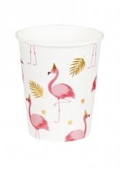 6 Vasos de cartón Flamingo Tropic 25 cl