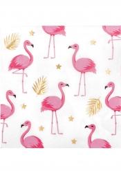 12 Servilletas de papel Flamingo Tropic 33 x 33 cm
