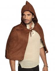 Capa medieval marrón adulto