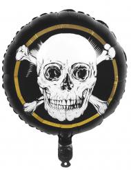 Globo de aluminio pirata Jolly Roger 45 cm
