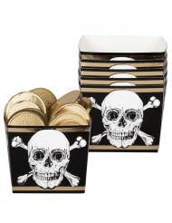 6 Envases de cartón Pirata Jolly Roger 40 cl