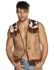 Chaleco western marrón claro hombre