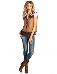 Chaqueta western marrón claro mujer