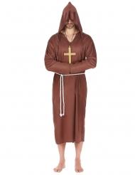 Disfraz monje marrón claro hombre talla grande