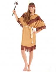 Disfraz de india bicolor para mujer talla grande