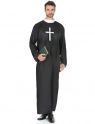 Disfraz de sacerdote talla grande para hombre
