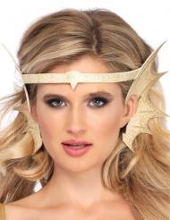 Diadema orejas de sirena dorada mujer