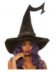 Sombrero negro lujo terciopelo bruja adulto