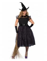 Disfraz lujo bruja talla grande mujer